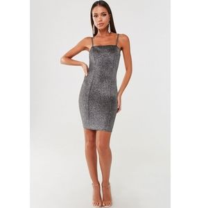 Grey Silver Glittery Bodycon Dress